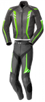 Büse Jerez - Herren-Lederkombi 2tlg. in schwarz / grün / weiss 001