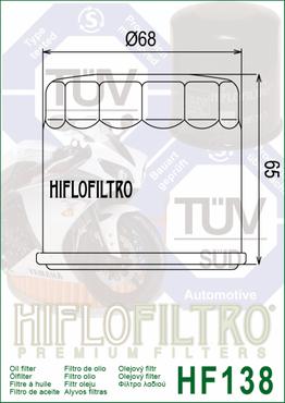 Hiflo Filtro Ölfilter HF138 für Suzuki – Bild 2