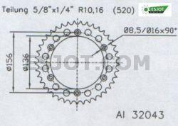 Regina Gas Gas EC 125 Kettensatz – Bild 4