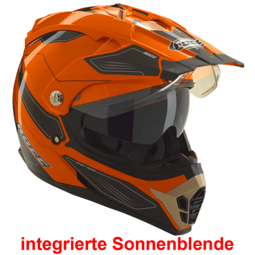 Rocc 771 - Orange / Schwarz - Endurohelm / Crosshelm