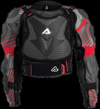 Acerbis SCUDO 2.0 Protektorenjacke Schutzjacke in schwarz / rot – Bild 1