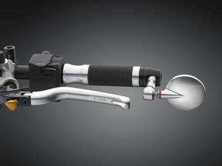 "Rizoma Spy-R 95 ""silber"" Lenkerspiegel mit ABE / o. Adapter – Bild 1"