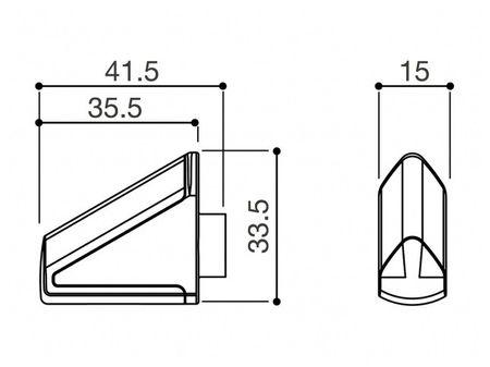 """Rizoma Zero """"silber"""" LED Motorrad Blinker - ohne Adapter – Bild 2"""