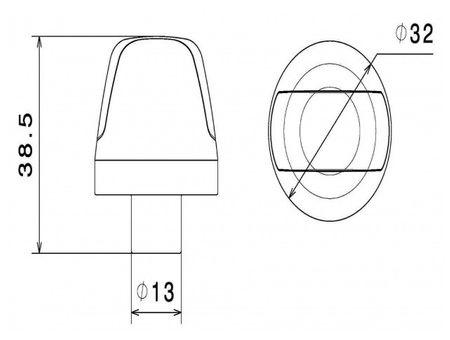 """Rizoma Sguardo """"chrom"""" LED Motorrad Lenker-Blinker - ohne Adapter – Bild 2"""
