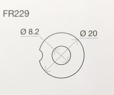 """Rizoma FR229B Blinkeradapter Set """"hinten"""" in schwarz für Yamaha XV950R 15-"""