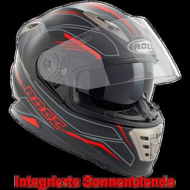 Rocc 486 Matt - Schwarz / Rot - Integralhelm