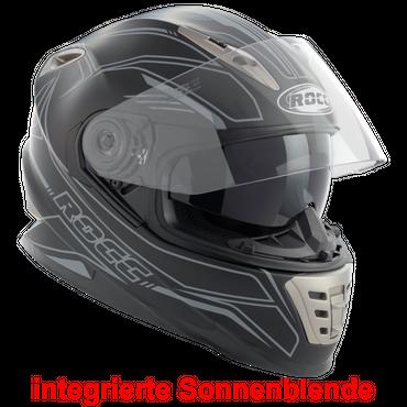 Rocc 486 Matt - Schwarz / Grau - Integralhelm