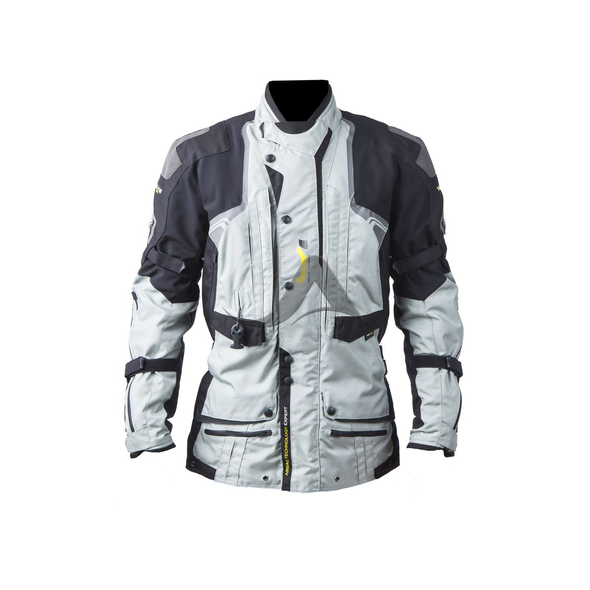 helite touring motorrad jacke b mit airbag in grau. Black Bedroom Furniture Sets. Home Design Ideas