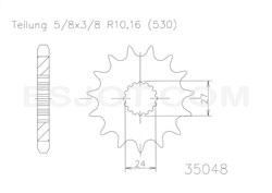 Regina SUZUKI GSX-R 1300, BJ. 08- Kettensatz – Bild 2
