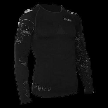 F-Lite Megalight 140 Funktionsunterhemd für Herren - Lang Shirt - Skull Edition