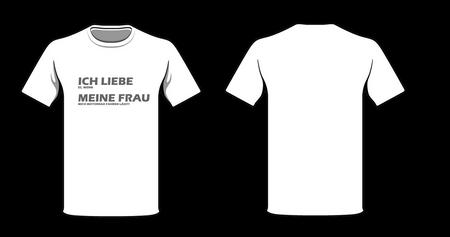 """Speed-Biker Fun T-Shirt """"MotoLove"""" Ich Liebe Meine Frau Motorrad Fahren (Weiß)"""