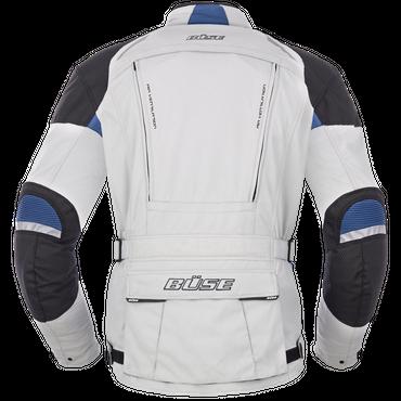 Büse Highland Motorradjacke für Herren (hellgrau / blau) – Bild 2