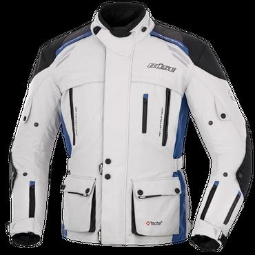 Büse Highland Motorradjacke für Herren (hellgrau / blau) – Bild 1