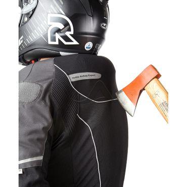 Helite Vented Blouson Jacke mit Airbag in schwarz-grau - Airbagjacke – Bild 5