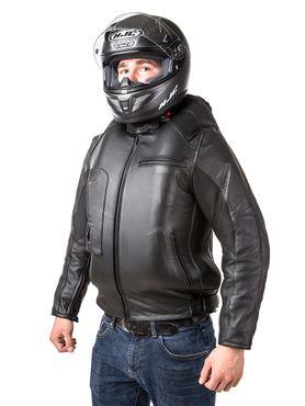 Helite Leder Blouson Roadster Jacke mit Airbag in schwarz - Airbagjacke – Bild 3