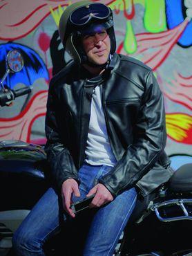 Helite Leder Blouson Roadster Jacke mit Airbag in schwarz - Airbagjacke – Bild 4