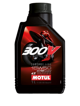 MOTUL 300V FACTORY LINE ROAD RACING 15W50 Motoröl - 1 Liter (1000ml) – Bild 1