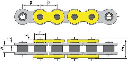 Regina Z-Ring Kette 525-ZRP (Offen + Niet) - verschiedene Längen – Bild 3