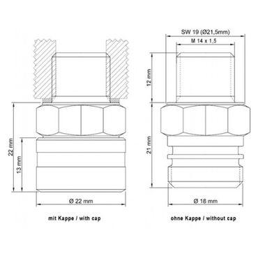 Stahlbus Ölablassventil M14x1.5x12mm - Edelstahl 1.4305 mit Seilsicherung (Komplettset) – Bild 2