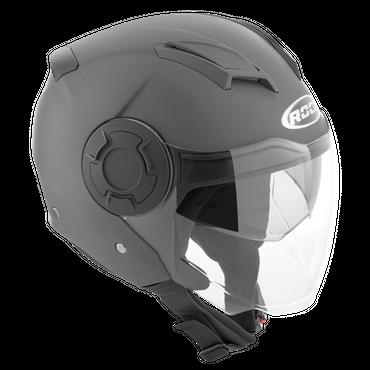 Rocc 280 Uni - Matt Titan - Jethelm mit Sonnenblende
