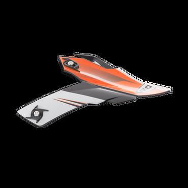 Rocc 740 / 741 Helmschirm - Schwarz / Orange