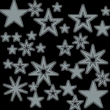 30 Sterne Fensterdeko Weihnachten Wandtattoo Fensterbilder Fenster Aufkleber – Bild 8