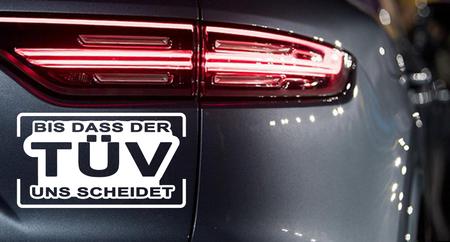 BIS DER TÜV UNS SCHEIDET Autoaufkleber Motorradaufkleber Aufkleber Sticker - 19cm – Bild 1