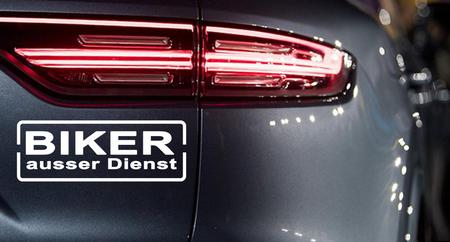 BIKER AUSSER DIENST Autoaufkleber Motorradaufkleber Aufkleber Sticker - 19cm – Bild 1